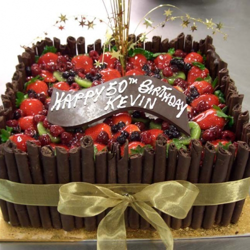 Bamboo Chocolate Fresh Fruit Eiffel Tower Cakes